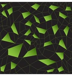Green mosaic grid vector image