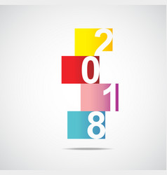2018 year in squares vector image vector image