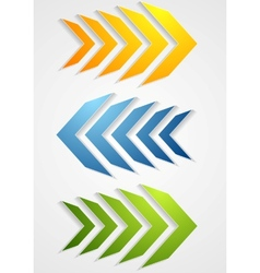 Abstract bright arrows vector