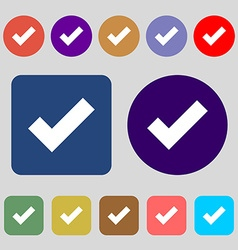 Check mark sign icon confirm approved symbol 12 vector