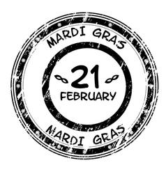 mardi gras grunge stamp vector image