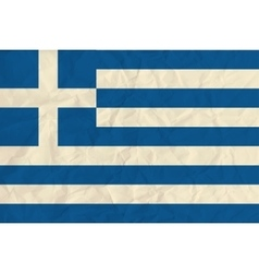 Greece paper flag vector