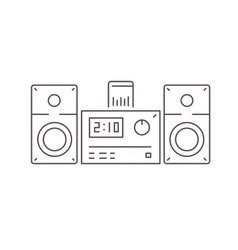 Icon of modern stereo system with dock station for vector