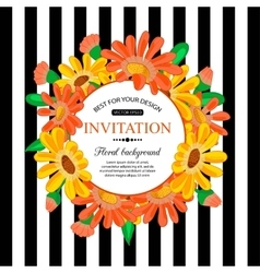 Save the date card with chamomile marriage vector