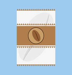 A white and brown fabric with a coffee bean logo vector