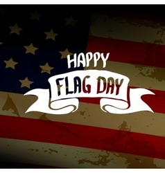 Happy flag day background vector