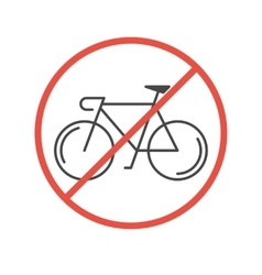 Modern of bicycles prohibited symbol vector