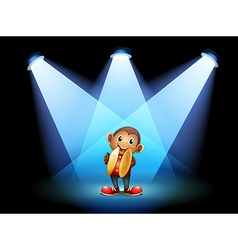 A monkey with cymbals at the stage vector image