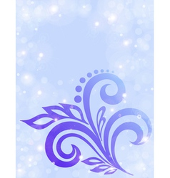 Abstract floral background in pastel colors vector image