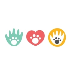 Animal club isolated badges vector image vector image