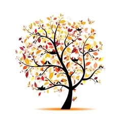 Art tree for your design vector