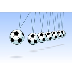 Balancing soccer ball vector
