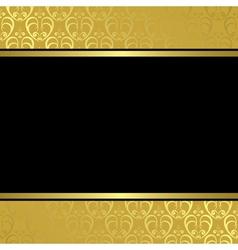 black center on golden background vector image vector image