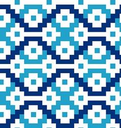 Blue geometric blocks in a seamless pattern vector