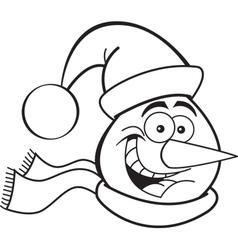 Cartoon Snowman Head vector image