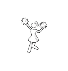 Cheerleader sketch icon vector