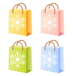 Christmas shopping bag vector image