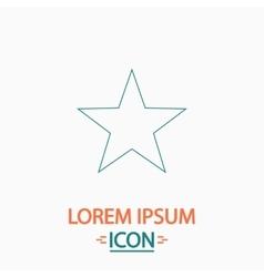 Clasic star computer symbol vector