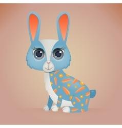 Cute cartoon rabbit vector