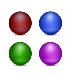 four colored balls vector image vector image