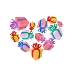 Gifts heart i love gift i like holidays vector