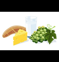 Healthy breakfast vector