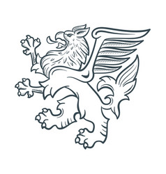 Image of the heraldic griffin vector
