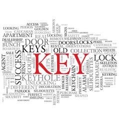 Key word cloud concept vector