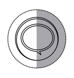 monochrome contour with circle sticker of speech vector image vector image