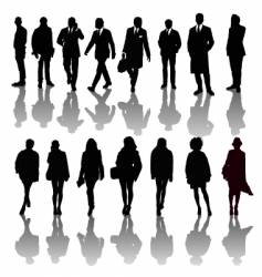 professional people silhouettes vector image