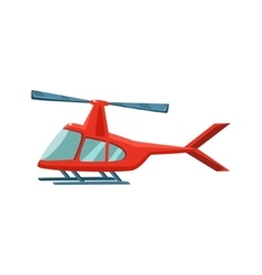 Red Helicopter Toy Aircraft Icon vector image