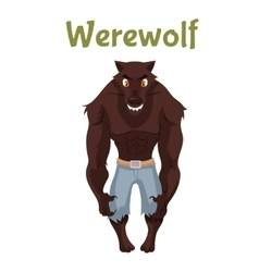 Scary werewolf halloween costume idea vector
