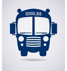 school bus icon vector image vector image