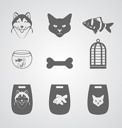 Set Icon for Pets shop vector image