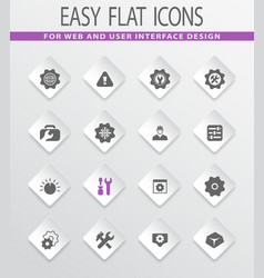 Setting icons set vector