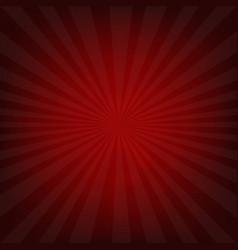 Sunburst dark red retro poster vector