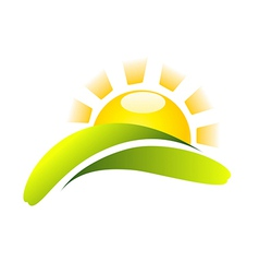 Sun Icon Creative Design vector image