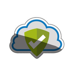 Cloud shield security approval vector