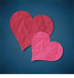 Two hearts from paper vector