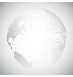 Dotted world globe light design vector
