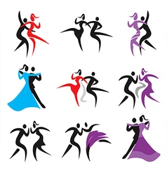 Dancing icons vector