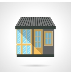 Appliance store facade flat design icon vector