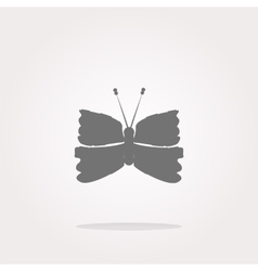 Butterfly icon on internet button isolated vector