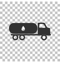 Car transports oil sign dark gray icon on vector