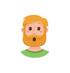 beard men facial expression vector image vector image