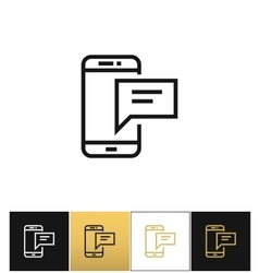 Bubble phone sign or texting message icon vector