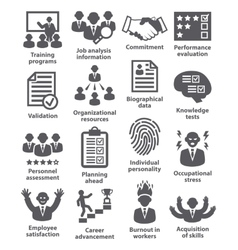 Business management icons Pack 23 vector image vector image