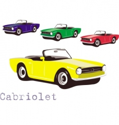 cabriolet vector image