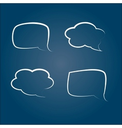 cloud for thoughts vector image