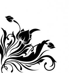 corner flower design vector image vector image